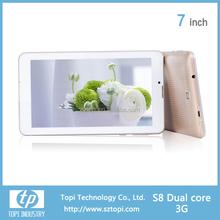 1024*600 resolution 7 inch HD screen 3G tablet pc dual sim card tablet pc