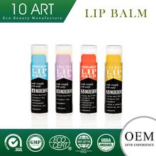 Organic Fresh colorful fruit essence macarons color high nourish lip balm