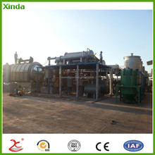 Easy operation heavy fuel oil from waste tire plastic pyrolysis equipment