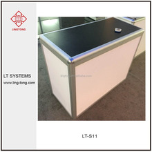 Modern aluminium frame showroom counter designs and office furniture office front desk counter design for exhibition
