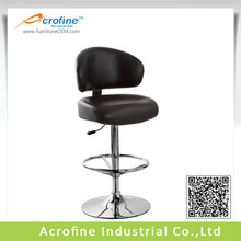 ABS1310 Best Selling Pu Swivel Bar Stool With High Back In Chromed 385MM Base