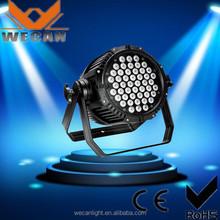 China supplier led stage lighting 54*3w par light outdoor lighting par