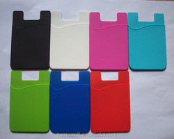 Silicone cell card holder mobile phone smart wallet