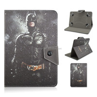 Cool Batman For 7/8/10 inch Universal Tablet PC Case, Cartoon PU Leather Cover That Can Folio Stand