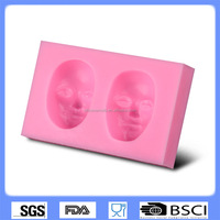 Factory Outlet selling DIY cake baking tools mask shape silicone fondant mold CD-F394