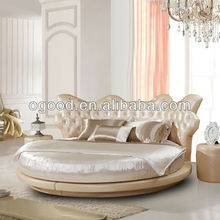 Neoclassical round bed resolution modern bed furniture set OB1130