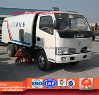 dongfeng small street sweeper, 4000liters street cleaning truck for sale