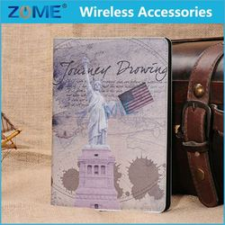 Popular Design World Map Pu Leather Case For Ipad Mini Printable Phone Cover