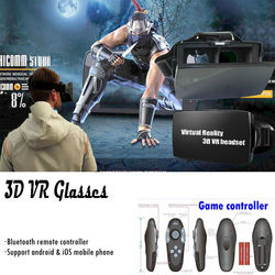 2015 Virtual Reality 3D glasses for 4.7''- 6''inch Android and ios mobile phone with bluetooth remote controller