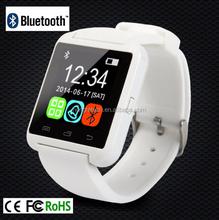 U8 pantalla táctil Bluetooth reloj teléfono inteligente con podómetro para teléfonos Android