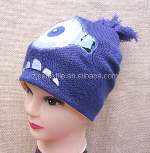 Knitting Pattern For Minion Beanie : Cartoon Beanie Minion Knitted Hat Acrylic Promotional Cap - Buy Beanie,Knitte...