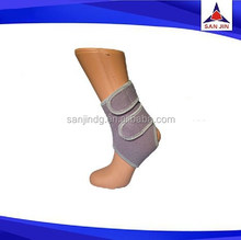 Custom one side double clossure neoprene ankle support wrap heated ankle