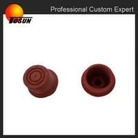 Abrasion resistant aging resistant rubber curtain rod end caps