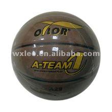 Professinal official size basketball,match quality laminated PVC basketball,uniform design