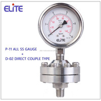 P-11 + D-02 All SS Pressure Gauge with Direct couple type diaphragm seal