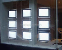 Shop Window Sign Acrylic Ceiling Light Box LED Window Display Real Estate Sign Frame