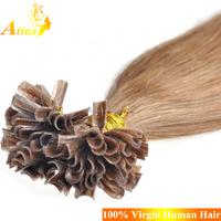 Best Selling Full Cuticles Russian Hair Keratin Prebonded U Tip Hair Extensions