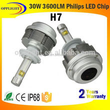 Made in China LED headlight lamp H4 H7 3600lm headlight with Samsung