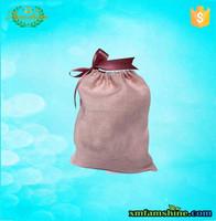 natural cotton linen drawstring bag