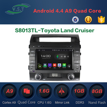 Android 4.4 dual-core car dvd player with BT/WIFI/RADIO/GPS for Toyota Land Cruiser