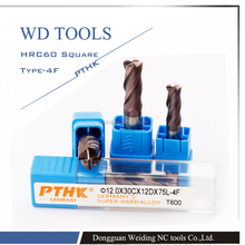 PTHK T600 milling cutters/ High performace TiAlCN coating tungsten carbide milling cutters