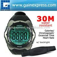 Heart Rate Monitor Fitness Watch Wireless Chest Strap Sensor Belt Sport 30~240bpm Calorie Counter 30m Water Resistant