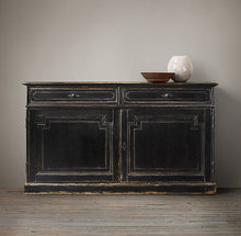 shabby furniture chic Black cabinet of wood furniture