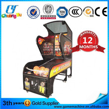 Coin operated arcade basketball amusement machine game