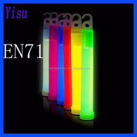 hot sale EN71 ROHS CE standard colorful hook chemical 6 inches led glow stick