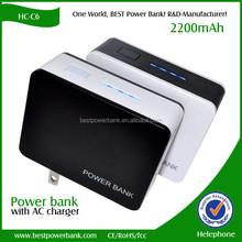 HC-C6 Home 2200mAh portable mobile phone charger 18650 power bank