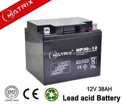sealed lead acid battery 12V 38AH