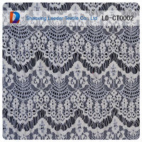 2014 high quality purple pattern nylon and cotton lace fabric for garment from fujian factory