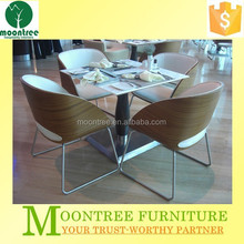 Moontree MDT-1114 modern restuarant stainless steel dining table and chair sets