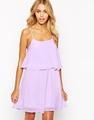 en línea tienda de ropa layler doble vestido de gasa vestido de las mujeres