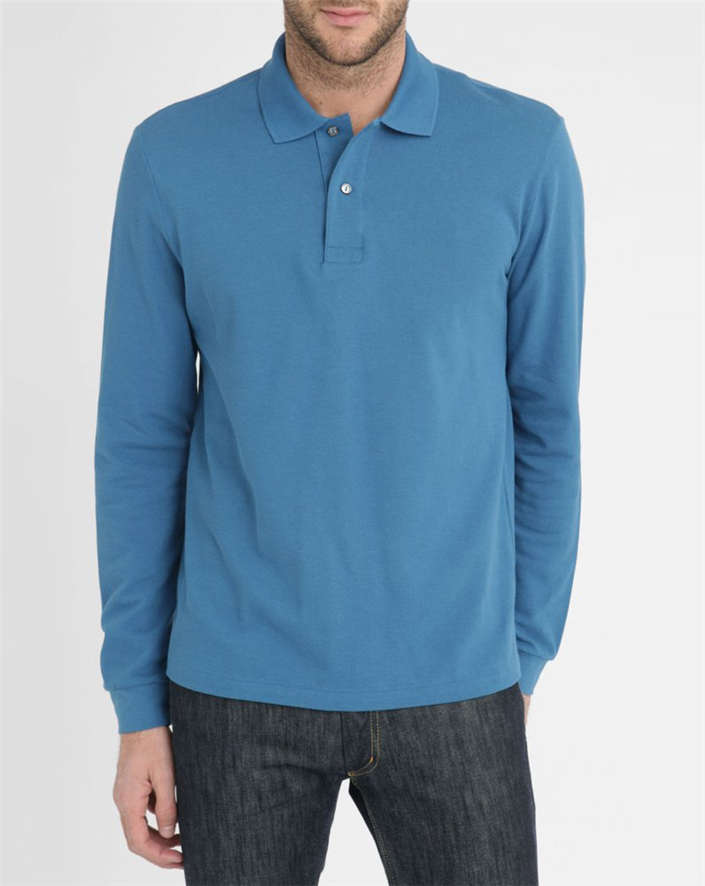 High Quality Stylish Man Plain Blue Cotton Long Seleeve