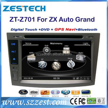 ZESTECH OEM 2 Din Touch screen Car Sat Navi headunit for ZX Auto Grand Tiger with gps radio audio navigation system autoparts