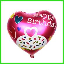 Newest helium happy birthday heart foil balloon
