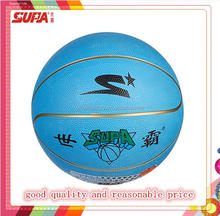 2015 single color factory cheap high quality rubber basketball, size 5