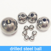 SGS fast delivery customized 201 304 stainless steel ball with a drilled hole supplied