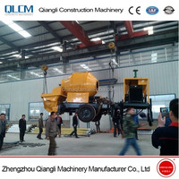 Used Stationary Concrete Pump and Mixer, 30m3/h Static Concrete Pump