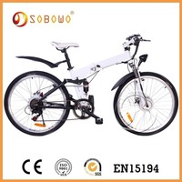 """36v EN15194 geared 26"""" electric folding bicycle"""