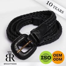 Adjustable russian mens black leather belt manufacturer H1-80007
