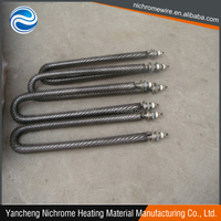 electric finned tubular heaters in industrial process air heating