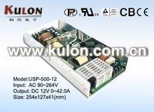 U-bracket PFC Meanwell 500W 12V open frame power supply unit SMPS/USP-500-12
