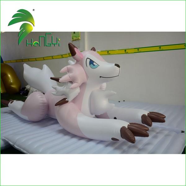 inflatable pink husky