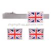 New High Quality Flag Cufflinks British Flag Cuff Resin Nation Flag Cuff Links