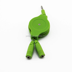 Colorful for ipod iphone mp3 3.5mm plug car aux cable