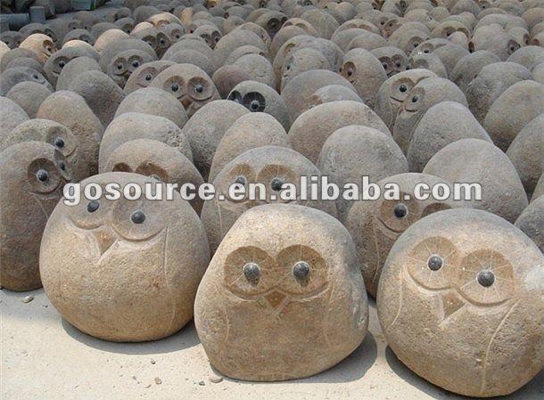 Naturstein carving tier eule steinschnittprodukt im garten