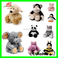 E382 Cozy Microwaveable Heated Cute pet imported plush stuffed animals