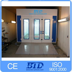 used auto paint booth for sale/car spray oven bake booth/portable spray booth/spray paint booth hot in Europe,France,Germany
